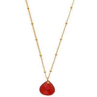 Alchemy Jewelry Gold Overlay Red Onyx Gemstone Necklace