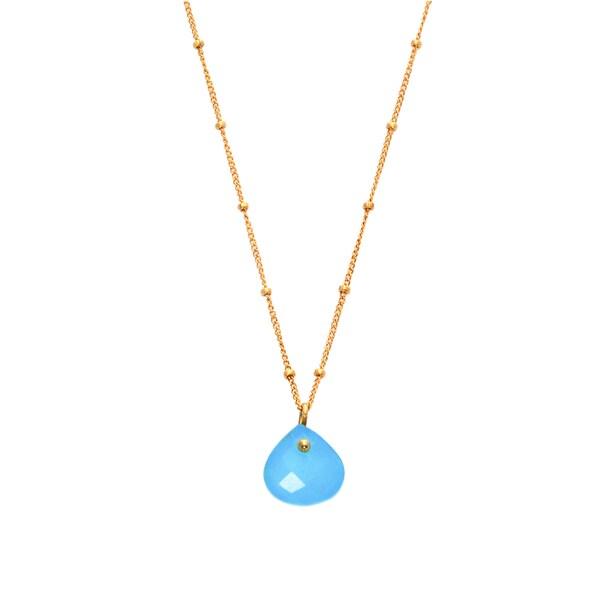 Alchemy Jewelry Aqua Chaledony Gemstone Necklace