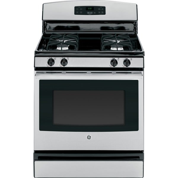 Stainless Steel Stove : GE 30-inch Stainless Steel Gas Range - 17117537 - Overstock.com ...