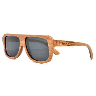 Tmbr. Men's SMGZ Zebrawood Aviator Sunglasses