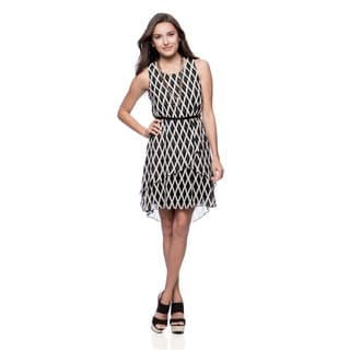 Jessica Simpson Missy Diagonal Criss Cross High/ Low Dress with Belt