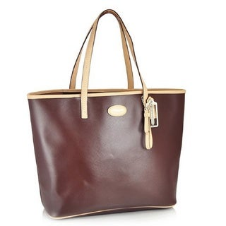 Coach Metro North Large Magohony Leather Tote