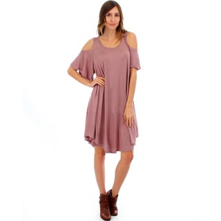 Lyss Loo Draped Open Shoulder Dress