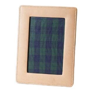 Barrington Tan Leather Photo Frame (4 x 6-inch)