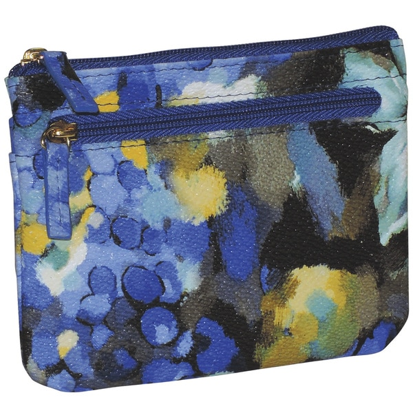 Buxton 'Water Rose' Abstract Print Large Card Case