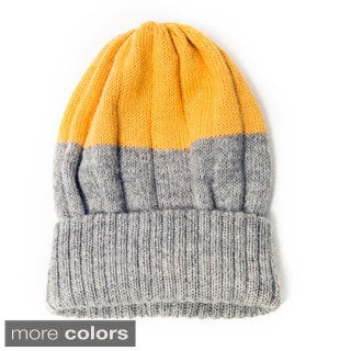 Bailey Two-tone Alpaca Wool Knit Hat (Bolivia)
