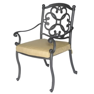 Somette Athens Cast Aluminum Outdoor Dining Chair and Cushion
