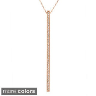 14k Gold 1/5ct. TDW Diamond Long Stick Pendant