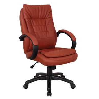 Jaye Red Leatherette Pneumatic Lift Office Chair