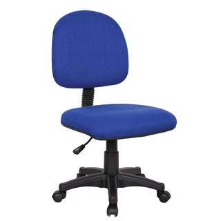 Simon Blue Fabric Pneumatic Lift Office Chair