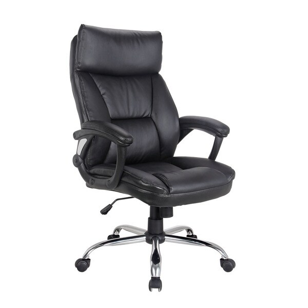 Colin Black Leatherette Pneumatic Lift Office Chair
