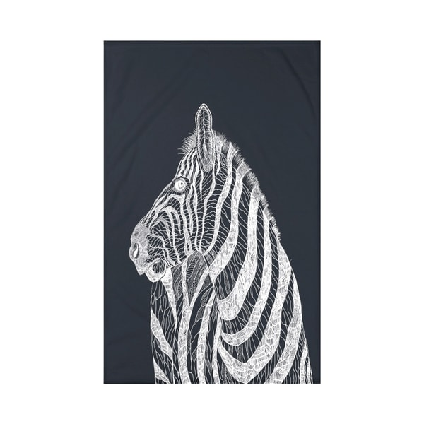 E by Design Black/ Off-White Animal Print Throw Blanket