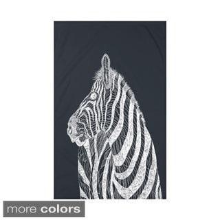 E by Design Black/ Off-White Animal Print Throw Blanket