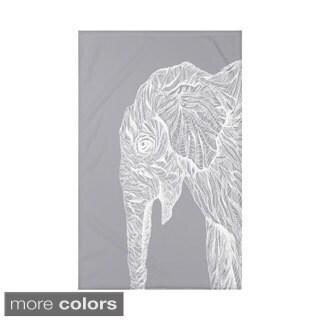 E by Design Grey/ Off-White/ Black Animal Print Throw Blanket
