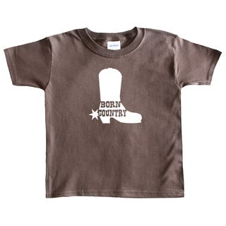 Rocket Bug Boys 'Born Country' Cowboy Boot T-shirt