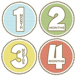Rocket Bug Seaside Monthly Baby Bodysuit Stickers