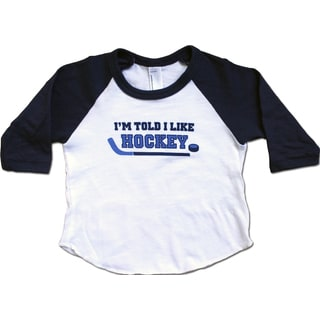 Rocket Bug 'I'm Told I Like Hockey' Raglan Shirt