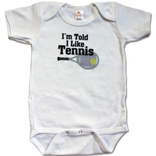 Rocket Bug 'I'm Told I Like Tennis' Baby Bodysuit
