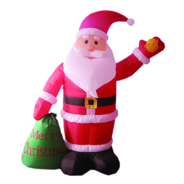 6-foot Illuminated Inflatable Santa with Merry Christmas Sign