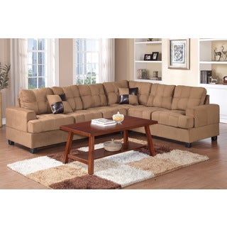 Zenica 2 pieces Sectional Sofa Set covered in Plush Microfiber