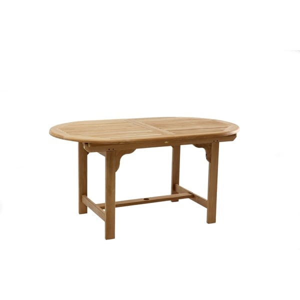 Teak Outdoor Extension Dining Table (59 / 79 inches long)