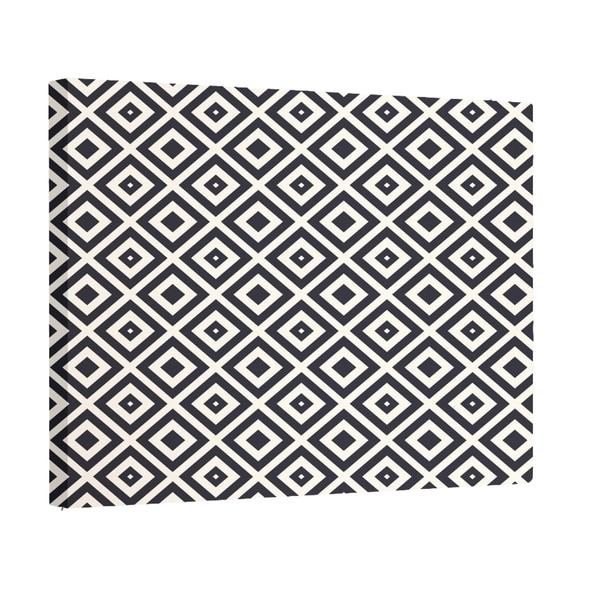 E by Design Navy Blue/ Teal / Dark Grey Geometric Print Wall Art (20 x 24)