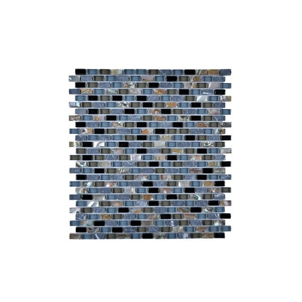 Multi-Glass Granite and Seashell Wall Tile