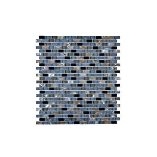 Multi-Glass Granite and Seashell Wall Tile(Pack of 11)