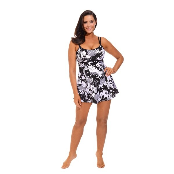 Beach belle techno floral plus size lingerie swimdress for Top rated boutiques