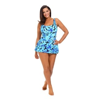 Honolulu Blue Princess Seam Swimdress