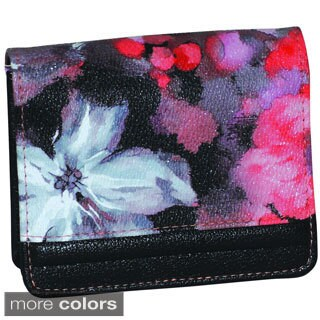 Buxton 'Water Rose' Micro Mini Floral Wallet