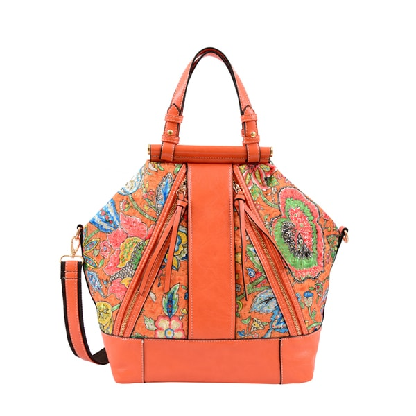 Mellow World Eden Floral Print Geometric Tote
