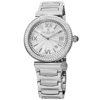 Charriol Men's ALSD.930.101 'Alexandre' Silver Dial Stainless Steel Diamond Swiss Quartz Watch
