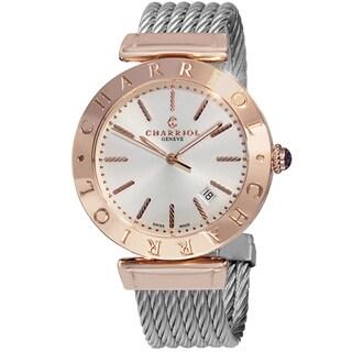 Charriol Men's ALP.51.104 'Alexandre' Silver Dial Stainless Steel Two Tone Quartz Watch