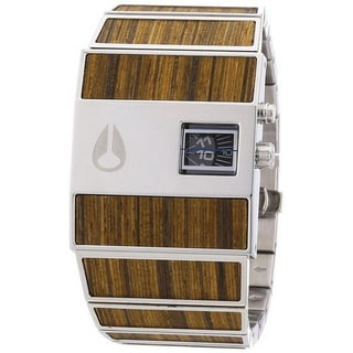 Nixon Men's A028439-00 Rotolog Quartz Bamboo and Stainless Steel Watch