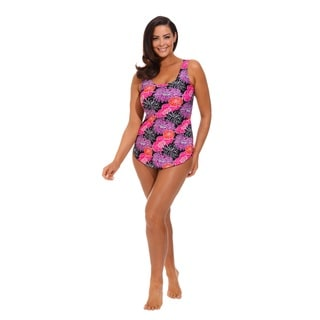 Floral Print Sarong Front Swimsuit