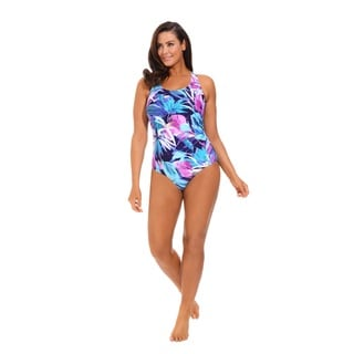 Turquoise Side Shirred Swimsuit