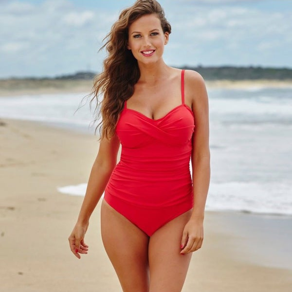 Red Twist Front Bandeau