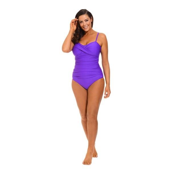 Purple Twist Front Bandeau