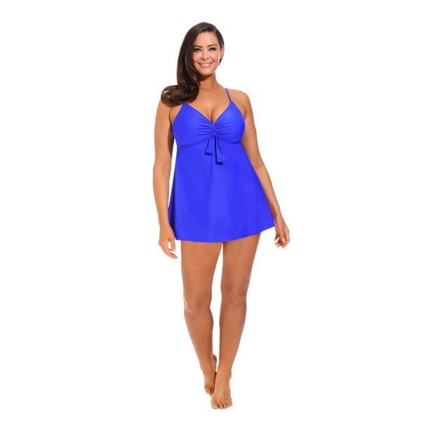 Royal Blue Underwire Swimdress