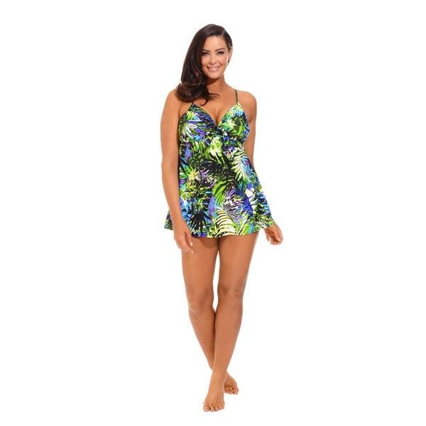 Tropical Underwire Swimdress
