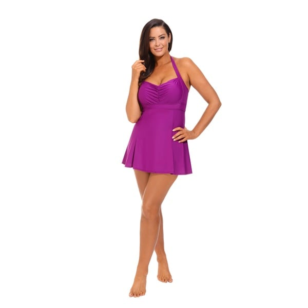 Magenta Halter Swimdress