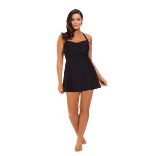 Black Halter Swimdress