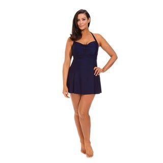 Navy Halter Swimdress