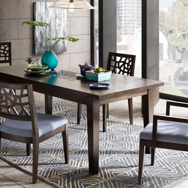Ink+Ivy Crackle 81-inch Dining Table
