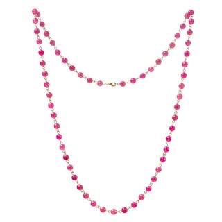 Alchemy Jewelry Pink Ruby Quartz Gemstone Necklace