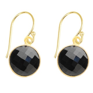 Alchemy Jewelry Gold Over Silver Black Onyx Drop Earrings