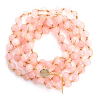 Alchemy Jewelry Macrame Rose Quartz Wrap Bracelet