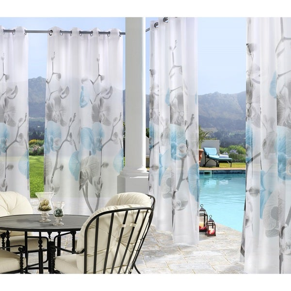 Orchid Outdoor Voile Panel