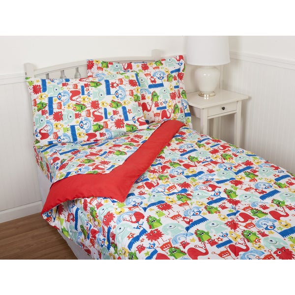Kids' Monster Party Comforter Set & Sheet Set Collection